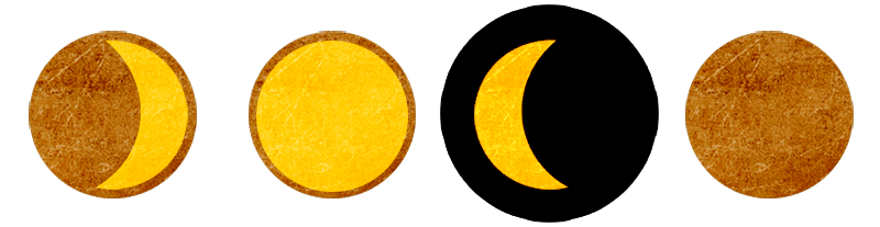 Aktuell: Abnehmender Mond